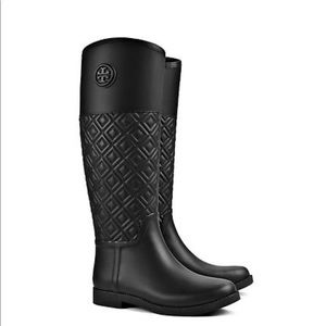 Tory Burch quilted rain boots